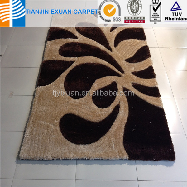 long pile washable Customized design shaggy rugs