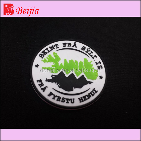3D soft garment/cloth/shoe adhesive rubber patch sticker, animal PVC label for shoe