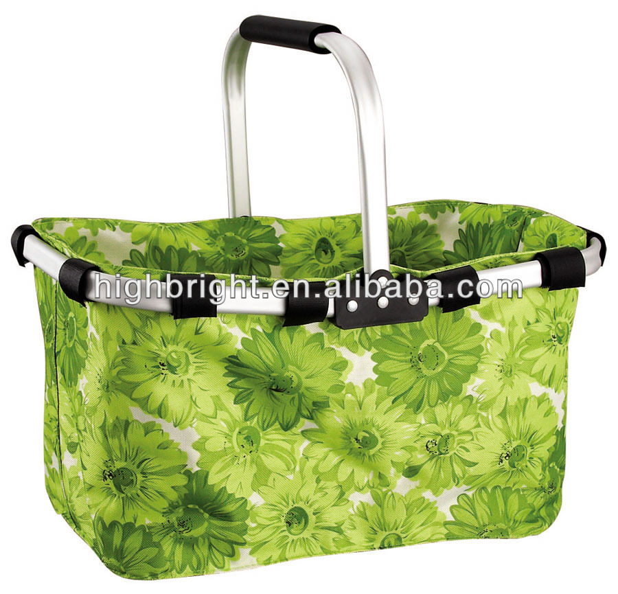 portable handle picnic shopping baskets
