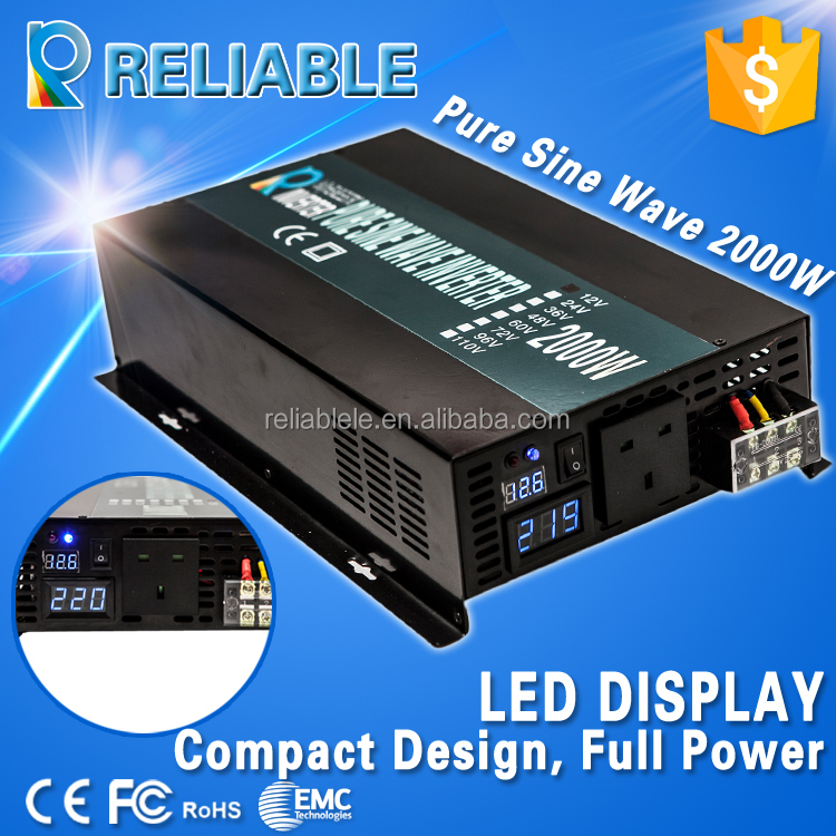 hot sale 48v 220v 2kw pure sine wave solar power inverter with LED diaplay