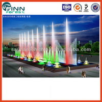 color changeable music dancing program control large outdoor water fountains for square