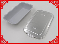 Disposable aluminum foil food storage container for airline