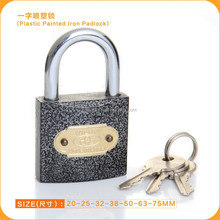 2015 dubai market hot sale plastic coated iron padlock in all size
