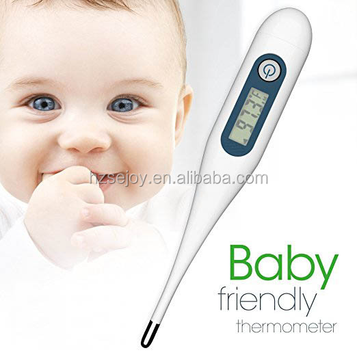 High Accuracy Rigid Tip Thermometer with Large LCD Display