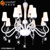 Luminaire lighting led glass ball pendant light retractable chandelier light OMG88601-12W