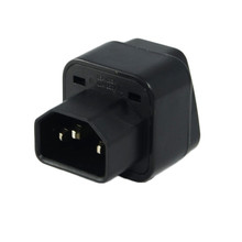 IEC C14 to Universal Female AU US UK EU C13 Socket Power Adapter AC Plug