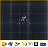 High quality 2016 melton check wool fabric/woolen fabric