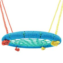 Outdoor Redesigned Tire Nest Swing with Nylon Rope