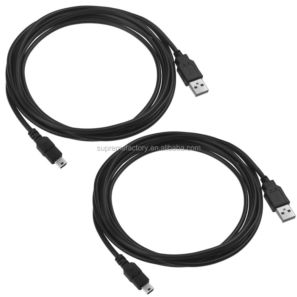 For PS3 Playstation3 Dualshock 3 KMD USB to Mini USB Charge Cable Twin Pack