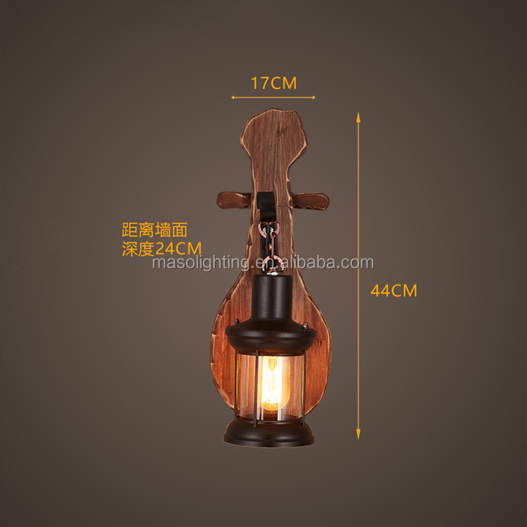 LED home lighting vintage neon wood guitar wall lamp table lamp holder e27