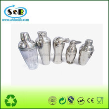 wholesale stainless steel 304 chrome cocktail shaker