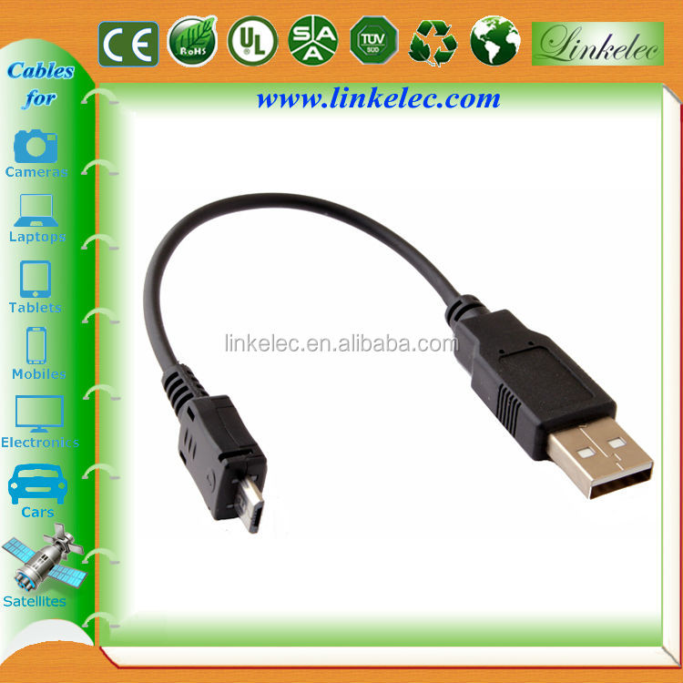 Gold plated high speed round OD6.0mm black braided micro usb cable for tablet