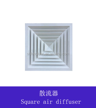 Ceiling square 4 way air diffuser register with damper