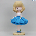 lovely girl polyresin toy oem maker/make custom 6 inch polyresin toy/customized home decoration polyresin toy