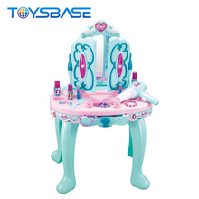 Newest Cheap Children Pretend Play Princess Dressing Table Play House Girl Makeup Plastic Toys For Kids