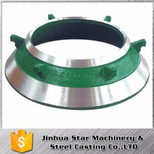 Stone pit Low operating costs concave and mantle for cone crusher