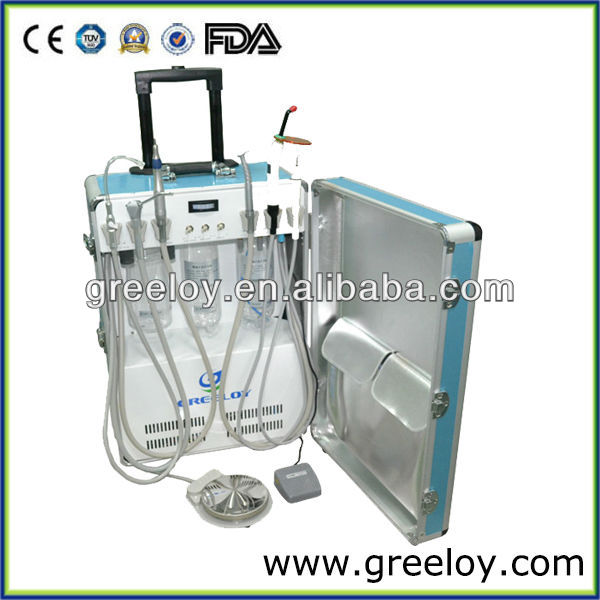 New Year Promotion!! Easy Move Portable Dental Unit with Ultrasound Scaler