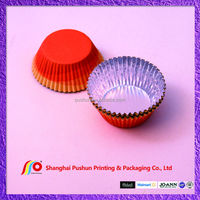 sopt color- fruit type aluminim cupcake cup