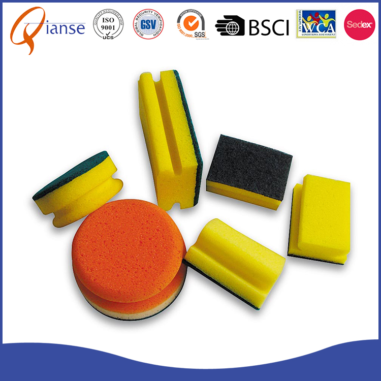 Factory price cleaning melamine dishwashing rubber kitchen nylon sponge ball for furniture