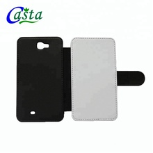 Customized Blank Sublimation Phone holster Folding leather case Phone cover Sublimation phone holster for Samsung Galaxy Note 2
