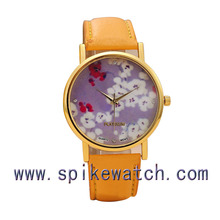Wholesale women gold watch geneva, geneva watch flower with japan movt