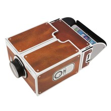 Gift of Portable DIY GenerationII Cardboard Smartphone Projector Without Power Supply For Smartphone and focus lens projector