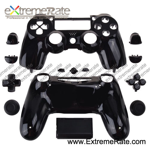 Wholesale Game Accessories Best Price Polished Black Housing For PS4 Controller Shell