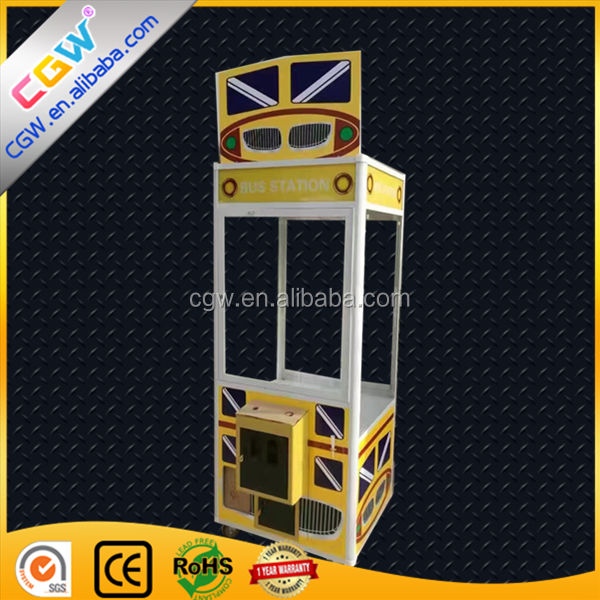 CGW Classical Arcade Coin Operated Prize Vending Kids Toy Claw Crane Game Machine For Sale