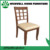(W-C-1729) oak material wooden restaurant chair with PU seat