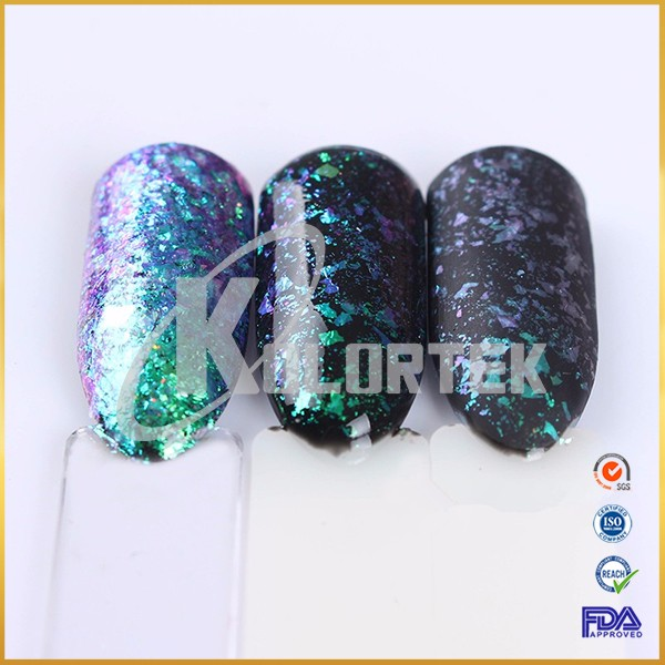 High quality nail chameleon flakes, color changing translucent chameleon flakes