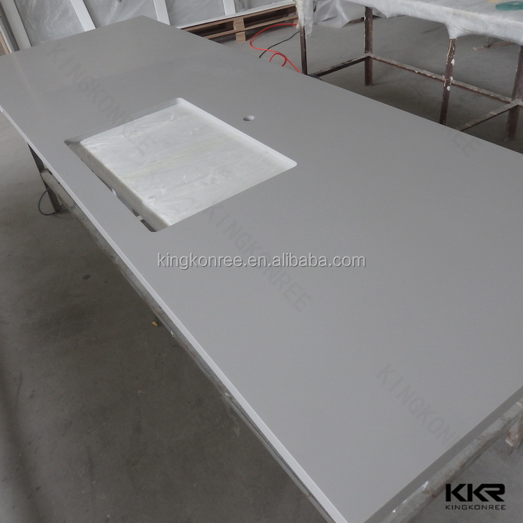 Artificial stone acrylic solid surface precut kitchen countertop