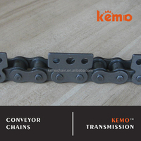 Carbon steel spinning use special attachment short pitch conveyor chains