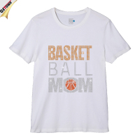 Basketball Mom Design Printed Custom Men T shirt