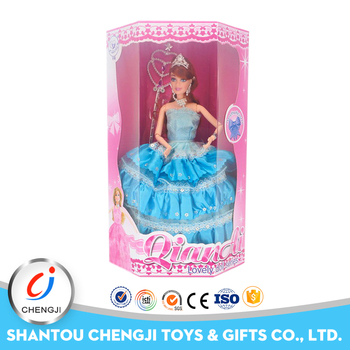 High quality 11inch beautiful princess dress up game doll