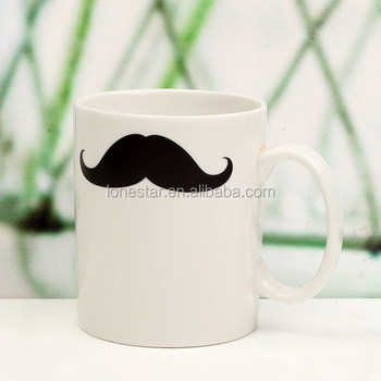 China Factory selling Home & Garden Drinkware Mustachelips Mug Magic Heat Sensitive Color Changing Coffee Milk Tea Cups