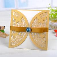 Hot selling free sample butterflies large print handmade elegant greeting cards, happy birthday greeting cards husband