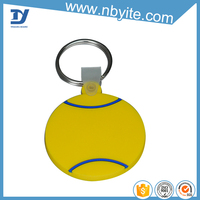 Various colored epoxy dripping wholesale plastic pvc custom key ring