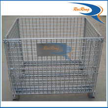 customized wire mesh storage baskets steel crate waste container