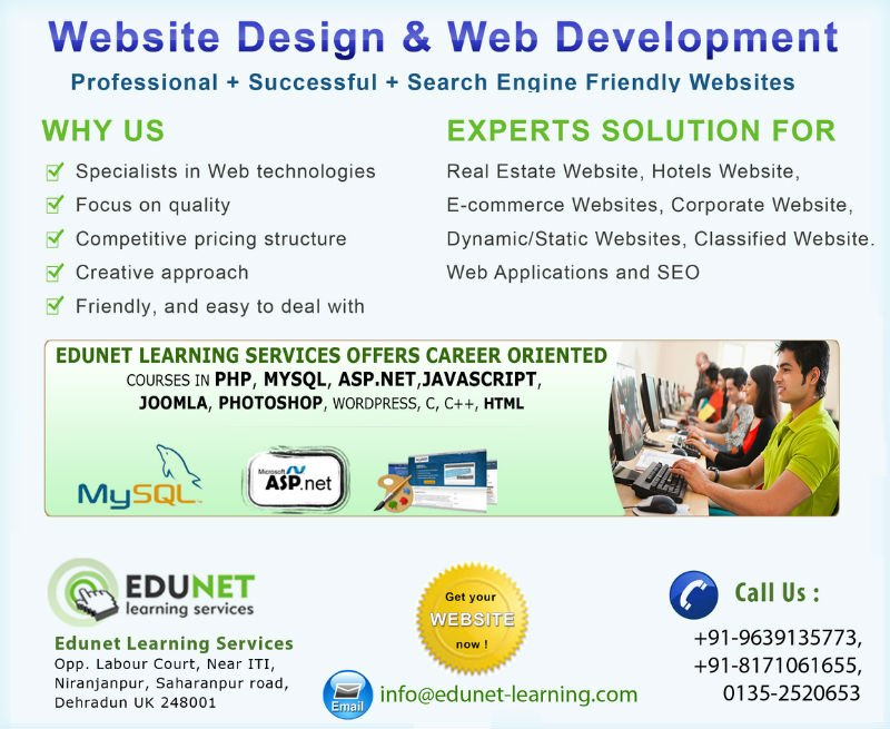 Industrial Training In .net Php Seo Web Designing
