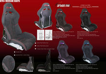recaro and bride carbon fiber CFRP&FRP Auto Reclinable Racing Seats/Sports seats