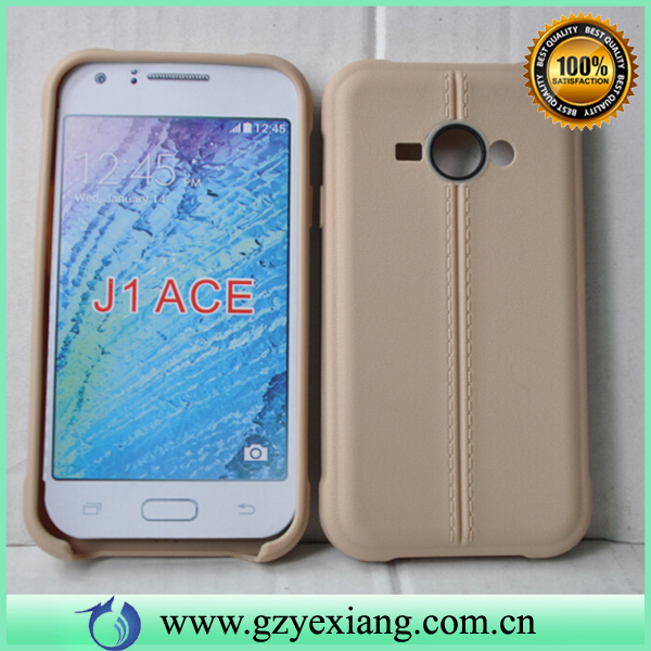 Gold Color High Quality TPU Case For Samsung J1 Ace J110 Leather Skin Cover