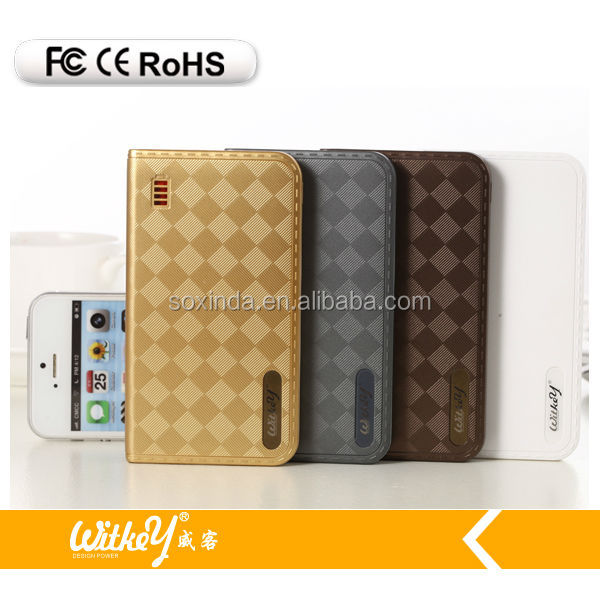 Wholesale power bank leather power bank,mobile phone power bank