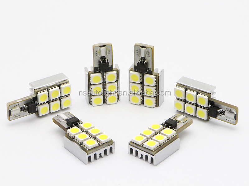 Canbus 3w T10 Led Car Bulb 5050 SMD 6 LED Interior Lamp LED reading light