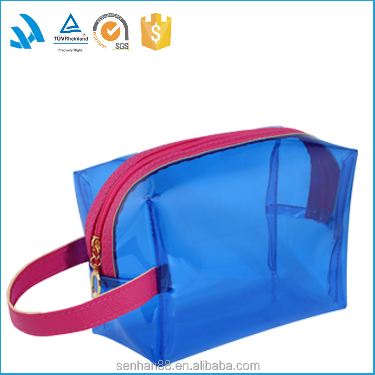 Wholesale Fashion Designer Whaterproof Travel Toilet Clear Pvc Cosmetic Bag With Zipper