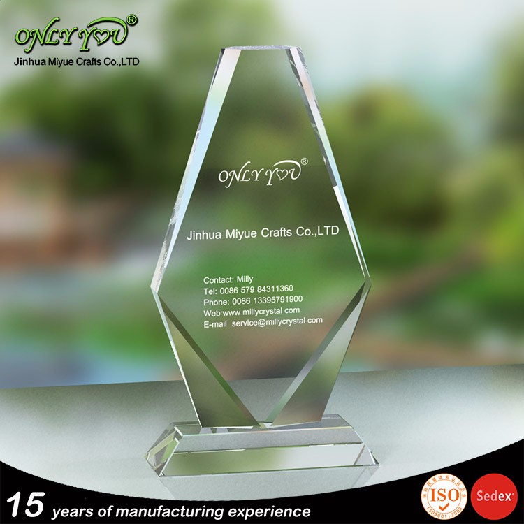 High Quality Free Customized Design Logos crystal engraving awards and gifts