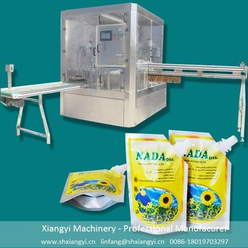 automatic spout pouch capping machine/water sachet packing machine