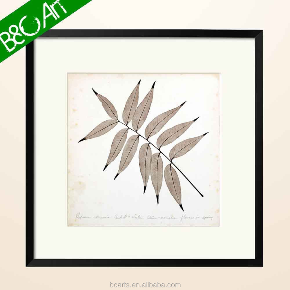 Z(9098) Modern still life wall decor famous botanical oil painting simple leaf print art