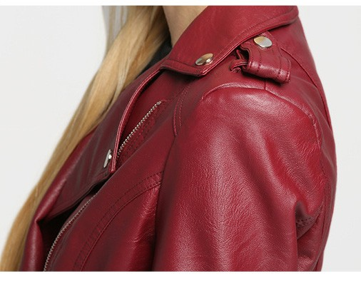 2017 latest designs lady casual fashion women leather jacket for wholesale winter coat leather
