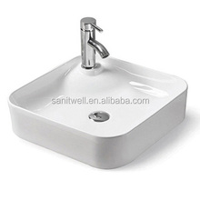 Single Hole Ceramic Art Wash Basin Above Counter Mounting for Multifunctional Usage