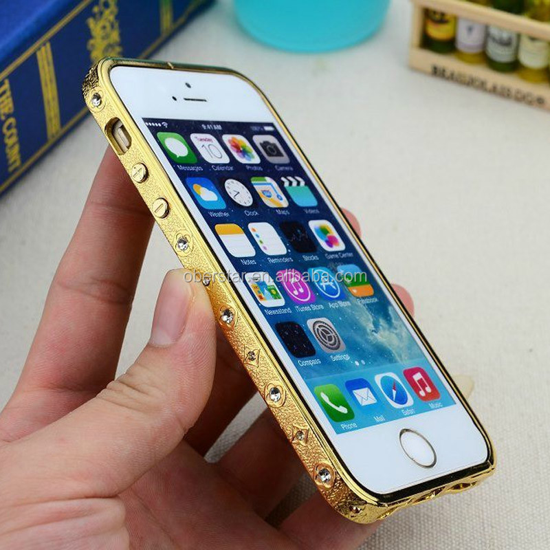 METAL ALUMINUM BLING CRYSTAL DIAMOND BUMPER FRAME FOR <strong>APPLE</strong> FOR IPHONE 4G 4S 5G 5S